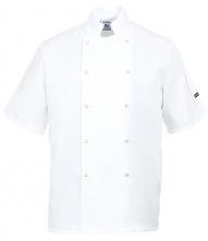 Kuchařský rondon CUMBRIA CHEFS krátký rukáv dvouřadý bílý velikost XL