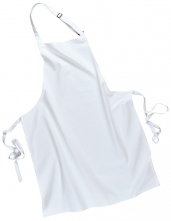 Zástěra s náprsenkou Gastro Klasik bavlna 72 x 95 cm bílá
