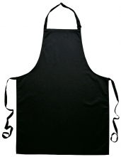 Zástěra s náprsenkou Gastro Klasik bavlna 72 x 95 cm černá