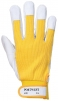 Pracovní rukavice TERGUS kombinované jemná vepřovice/bavlna žluto/šedá velikost 9