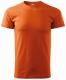 Tričko Basic 160 bavlněné kulatý průkrčník silikonová úprava oranžové
