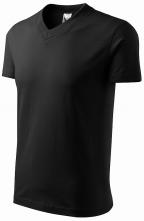 """Tričko V-neck 160 bavlna průkrčník do """"V"""" krátký rukáv černé"""