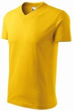 """Tričko V-neck 160 bavlna průkrčník do """"V"""" krátký rukáv žluté"""