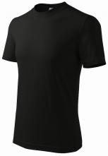 Tričko Heavy 200 bavlna kvalitní bavlněný materiál kulatý průkrčník černé