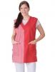 Zástěra VĚRA bez rukávů dámská červeno/červená kostka velikost 42