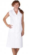 Plášť dámský FANY propínaný bez rukávů bílý velikost 44