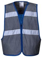 Vesta PW COOLING polyesterová síťovina/bambusová tkanina s PVA výplní pro chlazení těla šedo/modrá