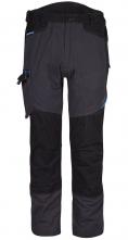 Kalhoty PW WX3 do pasu PES/BA 280g strečový materiál trojité šití přídavné kapsy šedo/černé