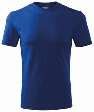 Tričko Heavy 200 bavlna kvalitní bavlněný materiál kulatý průkrčník středně modré