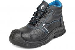 Pracovní kotníková obuv CERVA RAVEN XT O1 SRC kožená měkký límec PU/PU ochrana špice černo/modrá