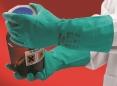 Rukavice Ansell SOL-VEX 37-676 nitrilové tenké délka 330 mm zelené velikost 9