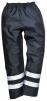 Kalhoty PW IONA Lite do pasu s pruženkou zateplené nepromokavé 2 reflexní pruhy tmavě modré