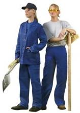 Dámské montérkové kalhoty HELA do pasu středně modré