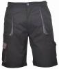 Krátké pracovní kalhoty TEXO Contrast černo/šedé velikost L